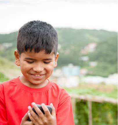 Boy Calling through Indus Networks