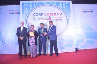 Indus Towers has won the Corporate Communications & PR Excellence award